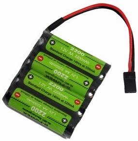 D-Power CD-2200 4.8V FLAT NiMH AA Akku, CD220048R
