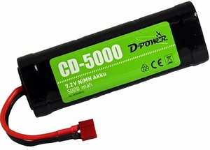 D-Power CD-5000 7.2V NiMH Akku mit T-Stecker
