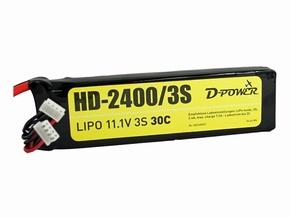 D-Power Lipo 3-2400mAh  3S 30C XH+EH bal + XT60 stekker  Pakket