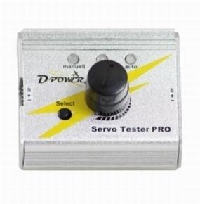 D-Power ALU Servotester PRO 3 functie, 3x servo-regelaar