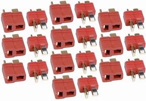 DEANS T-plug Gold  ULTRA Grip Rood  10x PAAR