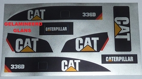CAT 336D Sticker Silver glans Decal Huina 1580 Excavator