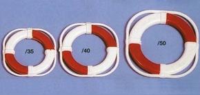 Aeronaut 6065/40 reddingsring Rood/Wit 40mm 2 stuks