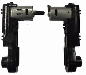 Aandrijfset motoren compleet L+R  Huina 1580 Graafmachine  Pakket