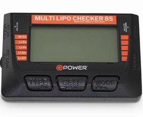 D-Power Multi Lipo Checker 8S, Balancer,Servotester,Akkutest  Envelop