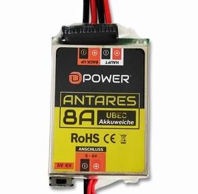 D-Power 9204 Antares UBEC 8A Akkuweiche uit 5-6V in 7-21V    Envelop