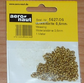 Aeronaut 5627/06 ankerketting messing kleurig 3,5mm 1meter  Envelop
