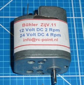 Bühler 6-24 VDC zij vertragingsmotor ZIJV-11  Pakket