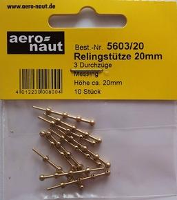 Aeronaut 5603/20  Reling staanders rond 3b 20mm hoog 10st  Envelop