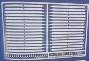 Aeronaut 5602/92  Reling staanders plat 2b 13,4mm hoog 32st