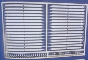 Aeronaut 5602/95  Reling staanders plat 2b 25,5mm hoog 32st  Envelop