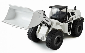 Wheel loader AMEWI 1583 WIT half metaal 1:14-16 2,4GHz RTR  Pakket