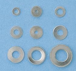 Graupner 560.3 onderlegring messing vernikkelt 2,1mm (10st)