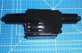 Aandrijving achteras AMEWI Huina 1583 Wheel Loader V2-V3
