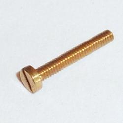 BOUT M2X10 mm MESSING ronde sleuf kop 1 stuks