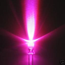 LED 5mm Super Bright Pink 15 degree 1200mcd  Envelop