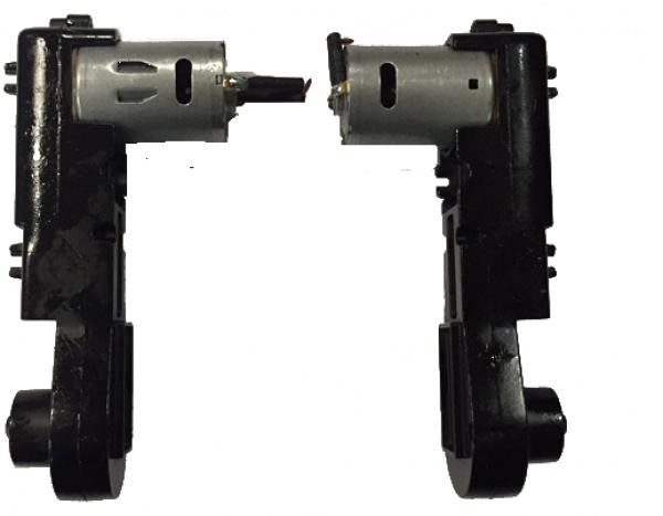 Aandrijfset motoren compleet L+R  Huina 1580 Graafmachine