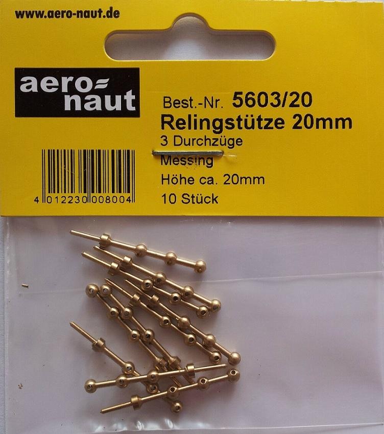 Aeronaut 5603/20  Reling staanders rond 3b 20mm hoog 10st