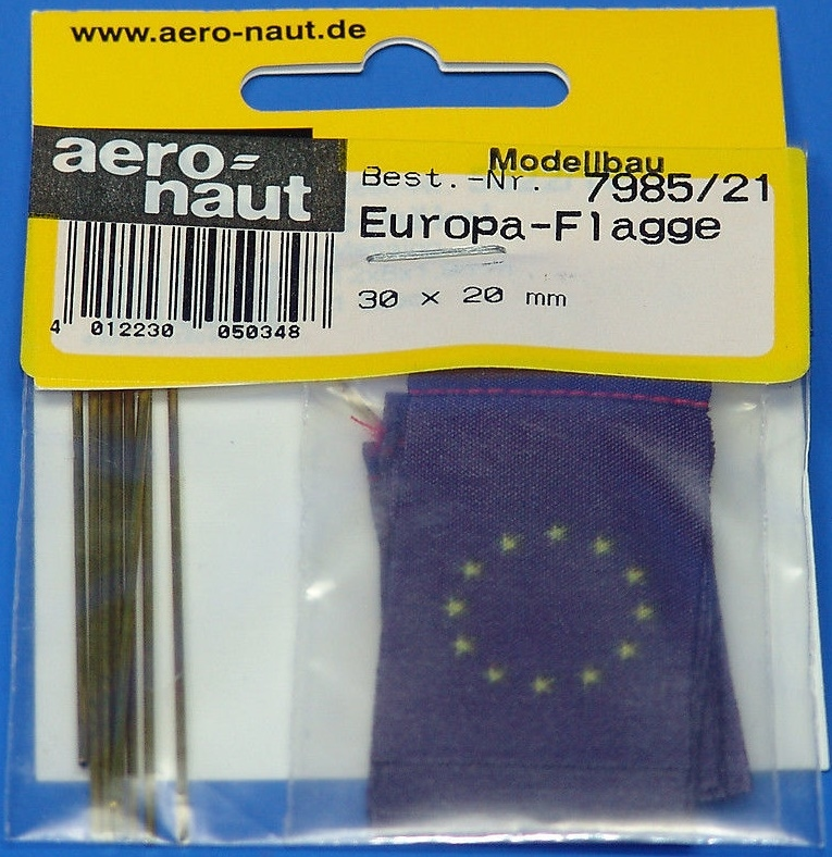 Aeronaut Vlag Stof EU europe 20x30mm 10 stuks Nr. 7985-21