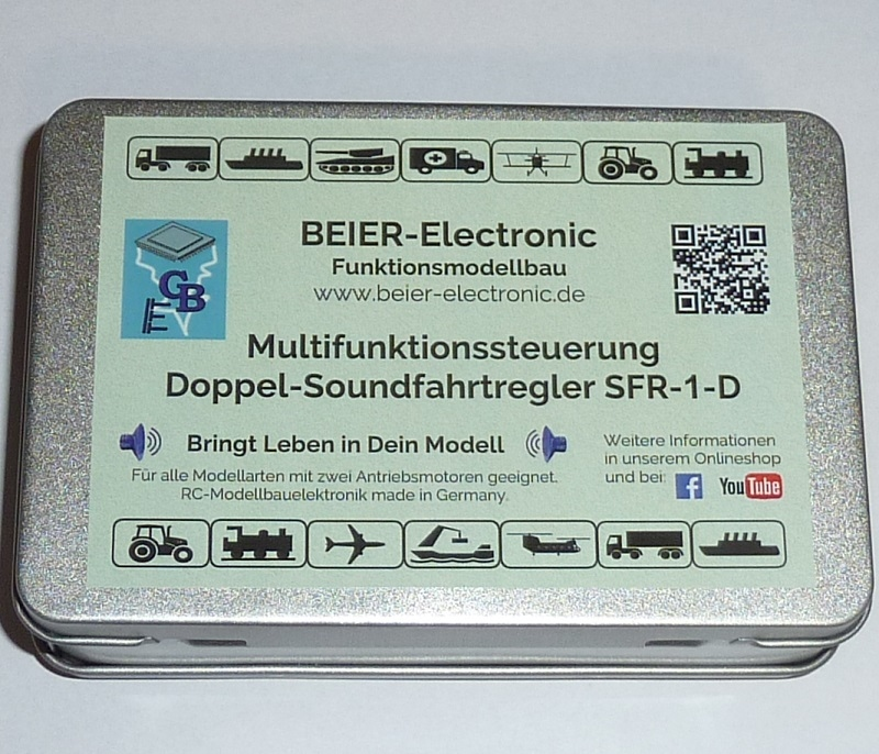 Beier SFR-1-D Soundmodule+2x Rijregelaar+Lichtset in een!