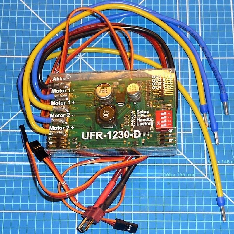 Beier UFR-1230D Rijregelaar Dubbel RUPS twinmotor 2x30A mix