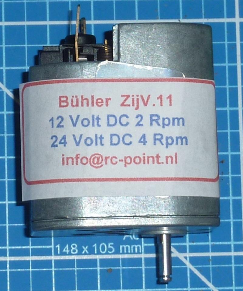Bühler 6-24 VDC zij vertragingsmotor ZIJV-11