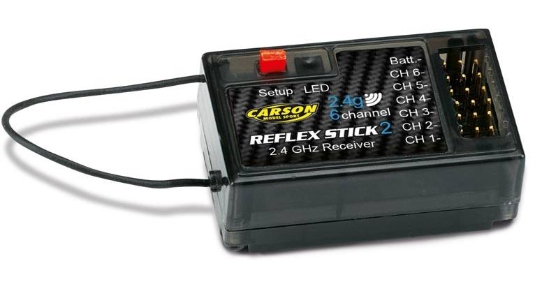 Carson 501537 Reciever REFLEX stick ( II ) 2,4GHz  6ch
