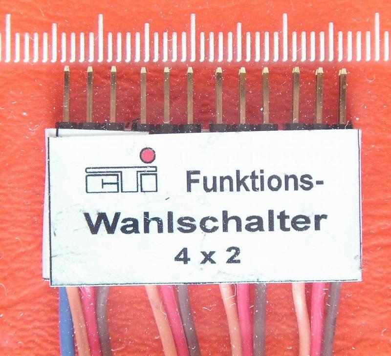CTI Funktions-Wahlschalter 4x2 functies schakelmodul FW4x2