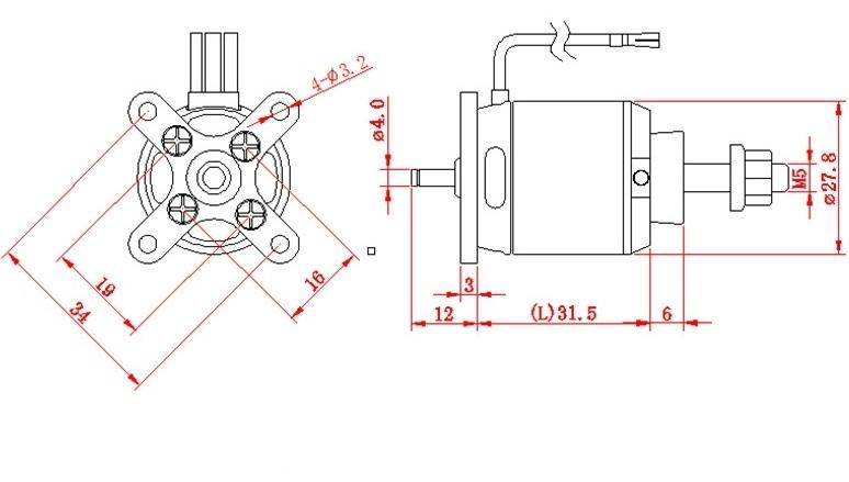 D-Power AL 2835-10 Brushless Motor 850KV 3-4S