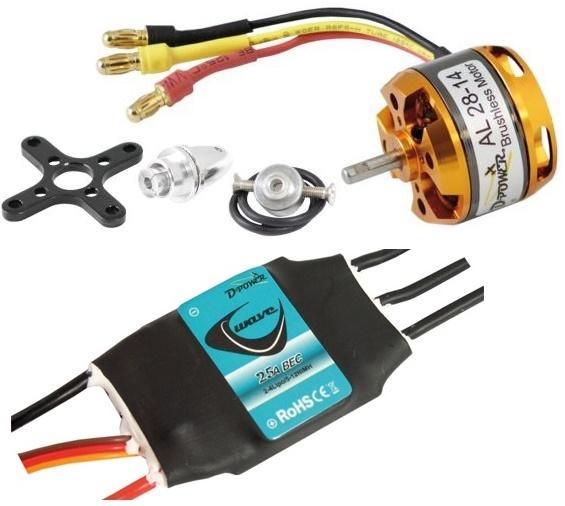 """D-Power AL28-14 Set incl. Regler """"WAVE"""" 25A"""