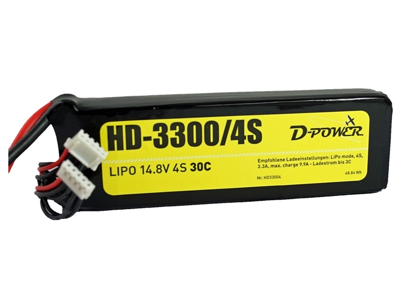 D-Power HD-3300 4S Lipo (14,8V) 30C - mit DEAN T Stecker
