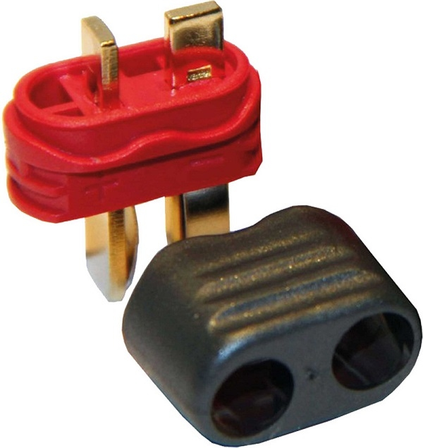 Deans-T Male connector with cap 10 stuks Robbe