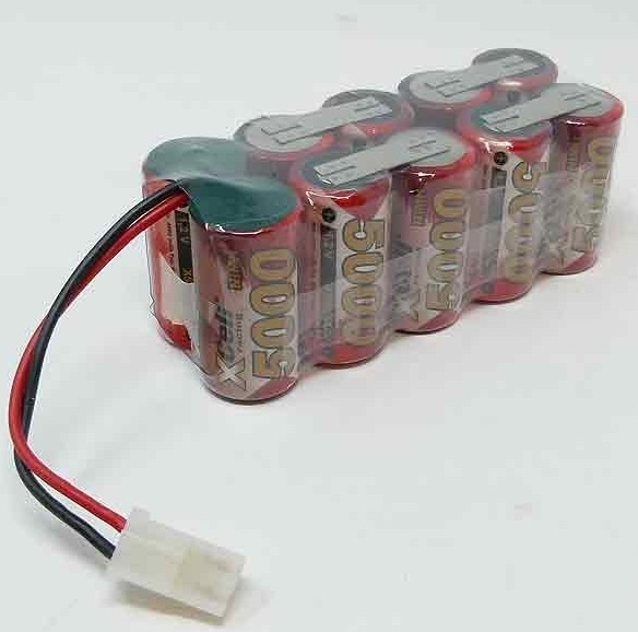 DrivePack Wedico accu 10 cell SUB-C 5000mA 12V AMP stekker