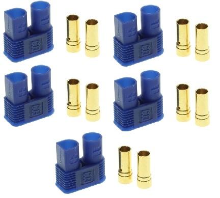 EC3 Connectors FEMALE Blauw 60Amp 5 stuks