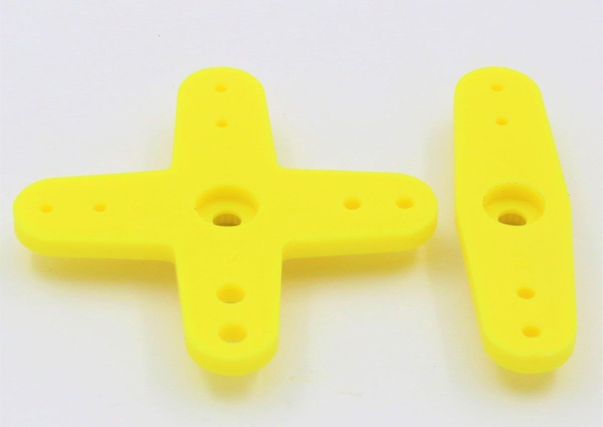 Futaba 56005101 servohevel dubbel en kruis 44mm 2st Geel