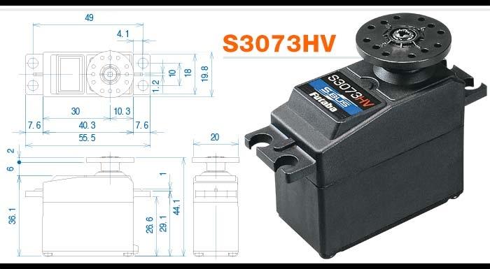 FUTABA S3073HV Servo - Standard HV S-Bus 0.16s/3.9kg
