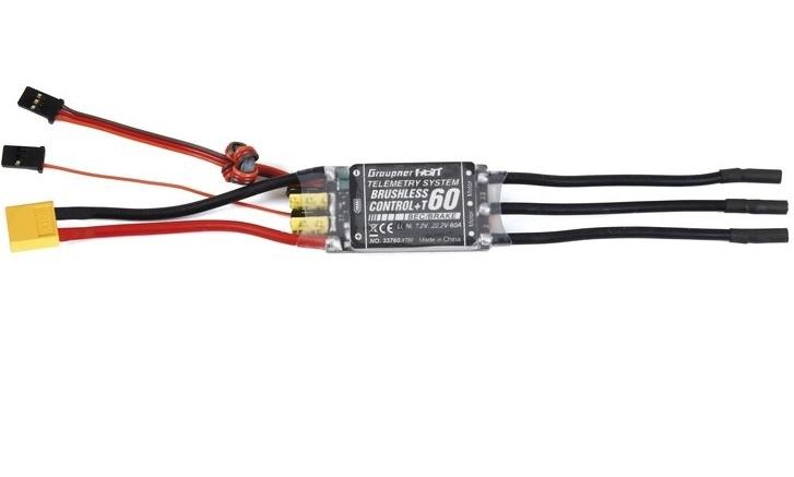 Graupner 33760.XT60  BRUSHLESS CONTROL + T60