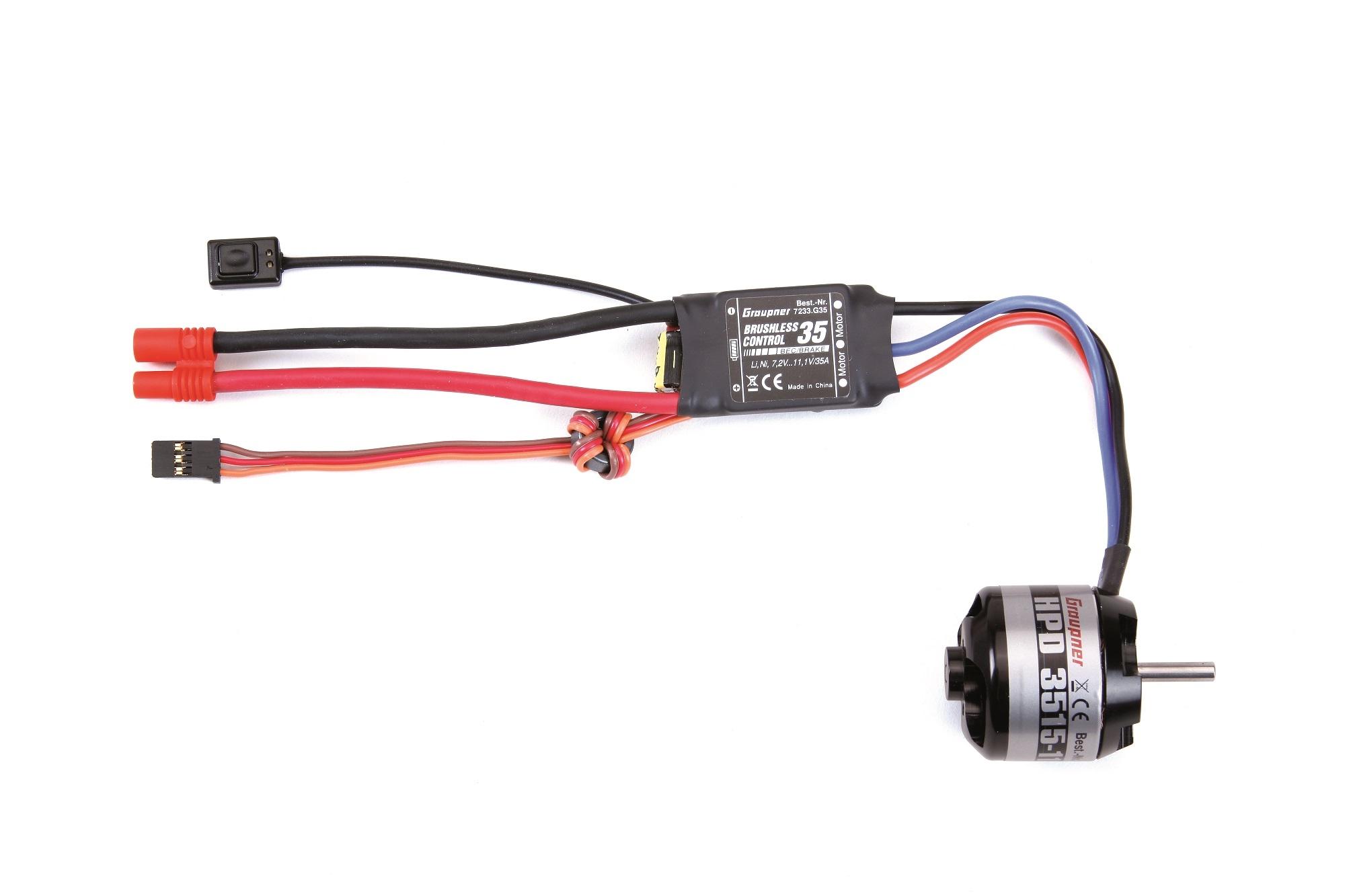 Graupner 7740.S Brushless SET 1100kV Compact HDP 3515  3S