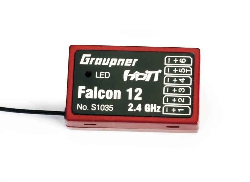 Graupner GR-12 FALCON GYRO HoTT 6ch ontvanger nr. S1035