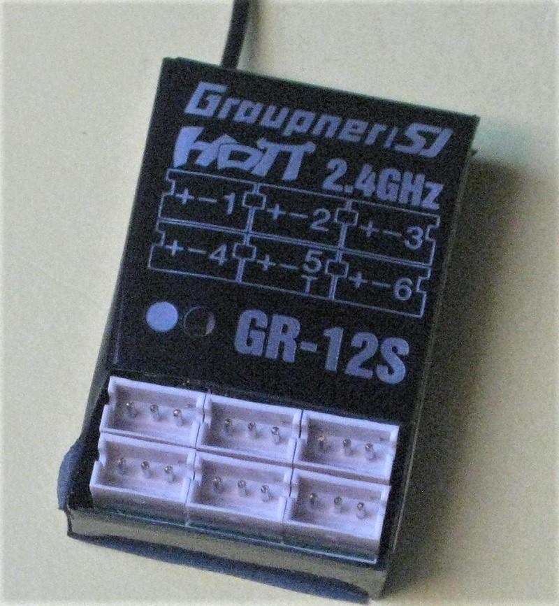 Graupner GR-12S HOTT 6 channel ontvanger nr. 33505
