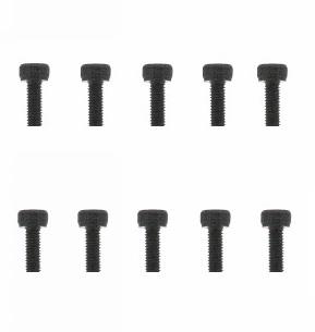 Graupner inbusbout staal zwart M3x8mm pack of 10 nr. 32308