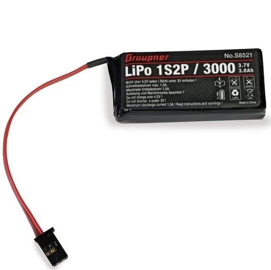 Graupner S8521 Zender accu Lipo 1S2P/3000 3,7V TX MZ12 Pro