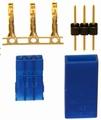 Graupner Servostekker koppeling  MALE/FEMALE, Blue UNI 71421