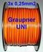 Servokabel vd rol GRAUPNER 3x0,25mm2 PLAT p/m Envelop