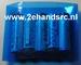 Krimpkous PVC Accupack 2:1  95mm plat rond 60mm blauw 0,2M Envelop