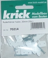 Krick Ruderhörner Nylon 5 gats 30mm VE5st  nr. 70213 Envelop