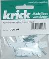 Krick Ruderhörner Nylon 5 gats 30mm VE5st  nr. 70213 Envelop