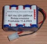DrivePack Graupner 5/2 AA 10cell 12V-2600mA ENELOOP Pakket