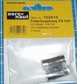 Aandrijf koppeling met veer-as 3/4mm VE2 stuks  7034/16 Envelop