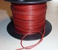 Siliconen draad 2 aderig PLAT rood/bruin 0,34mm2 -0,5M Envelop